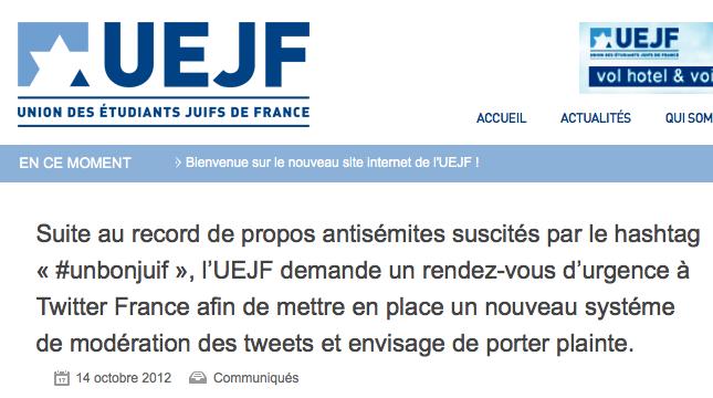Hashtag #UnBonJuif : contre qui l'UEJF doit-il porter plainte ?
