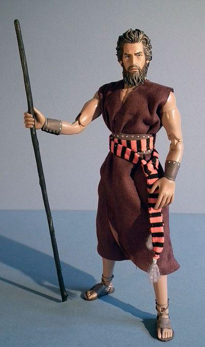 Photo représentant une figurine de Moise Haggadah Jewpop