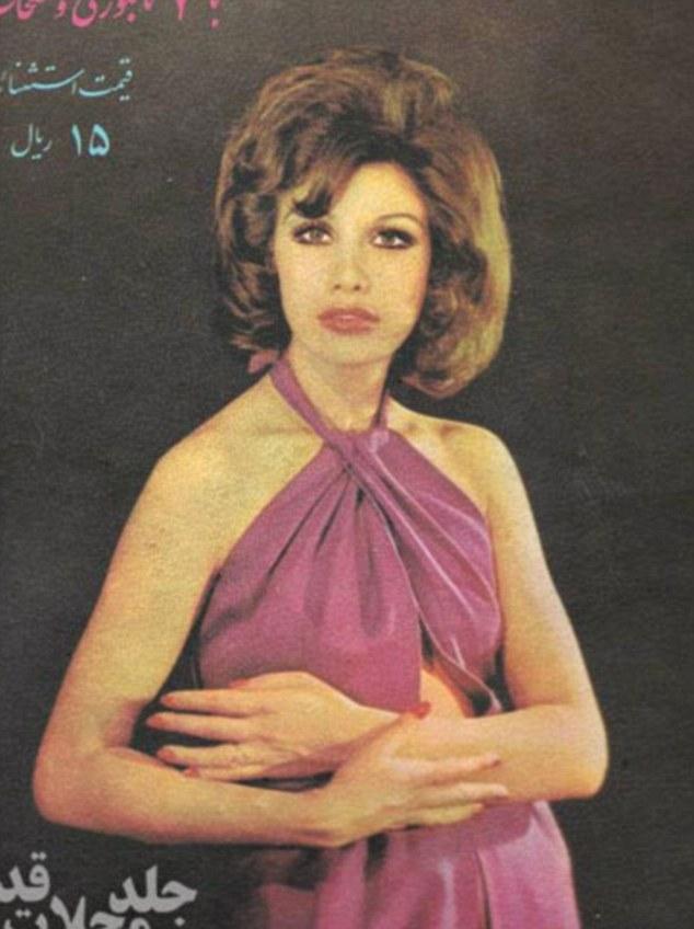 Photo représentant une femme en Iran dans les annees 70 Jewpop