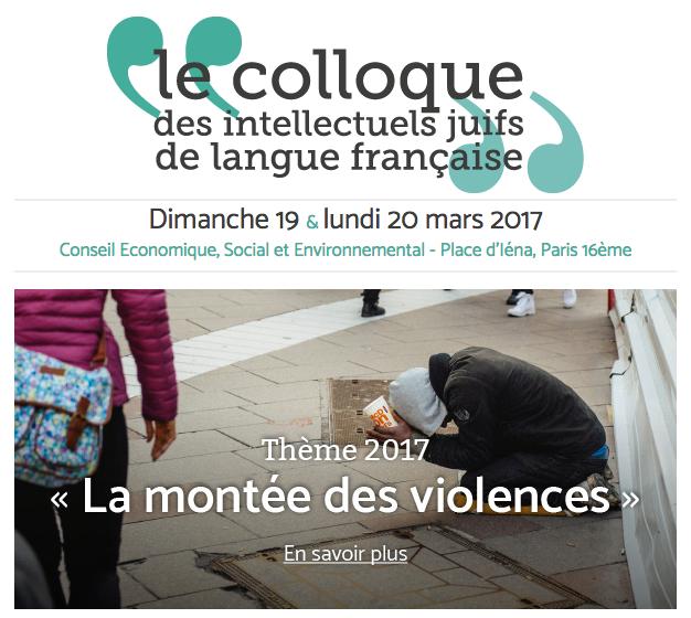 Le renouveau du Colloque des intellectuels juifs de langue française