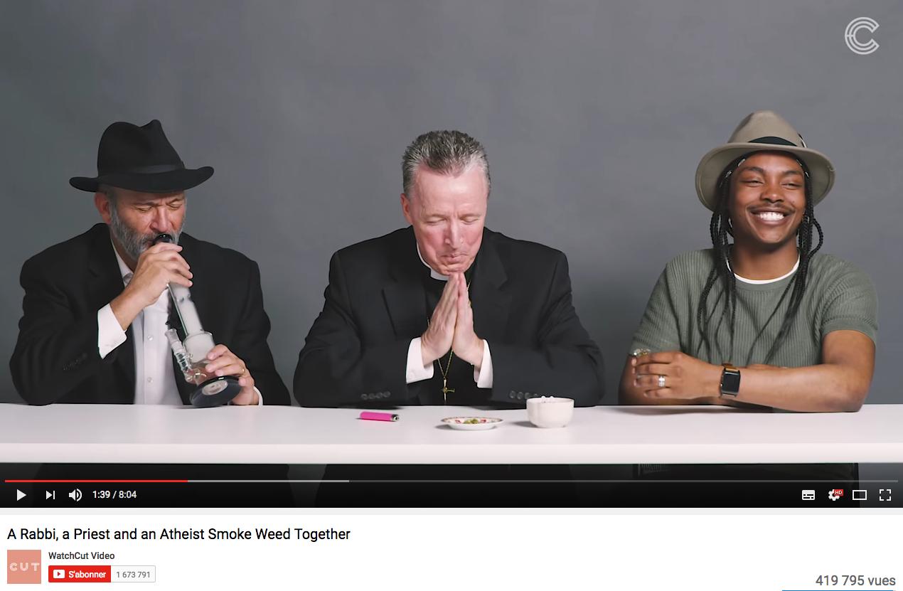 Quand un rabbin, un prêtre et un athée fument de la weed ensemble