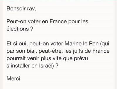 Qui sont ces électeurs juifs qui vont s'abstenir ou voter Marine Le Pen ?